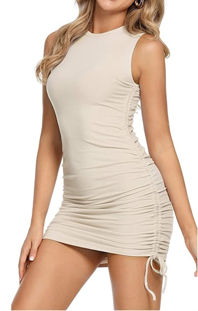 MYHEAT MH Drawstring Side Ruched Dress
