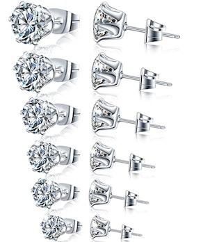 Manufac CZ Earrings (6 Pairs)
