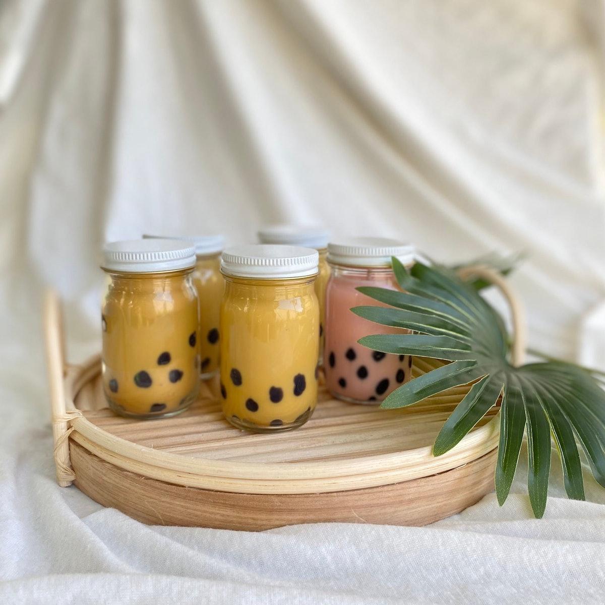 Honey Jasmine Boba Candle