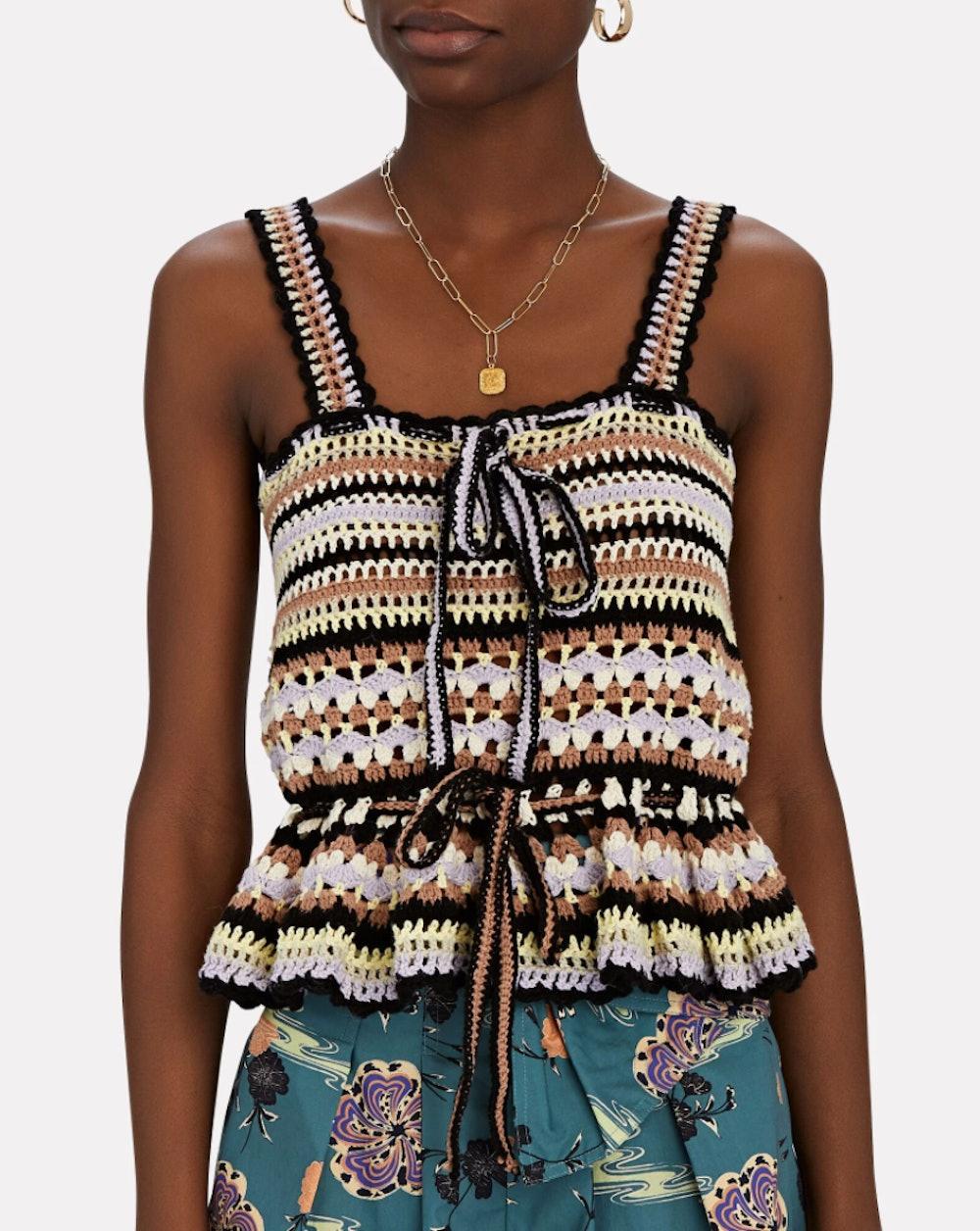 Zita Crochet Knit Tank Top