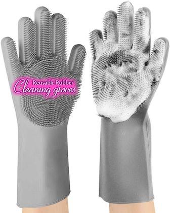 anzoee Reusable Silicone Dishwashing Gloves