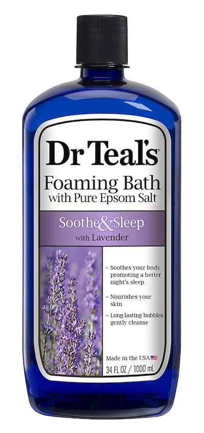 Dr Teal's Foaming Bath With Pure Epsom Salt, Soothe & Sleep With Lavender (34 Fl Oz)
