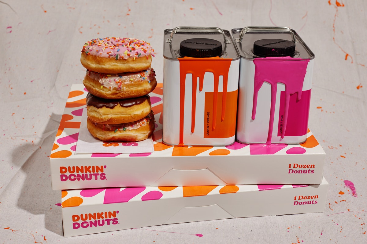 Dunkin's paint collection with Backdrop is so vibrant.