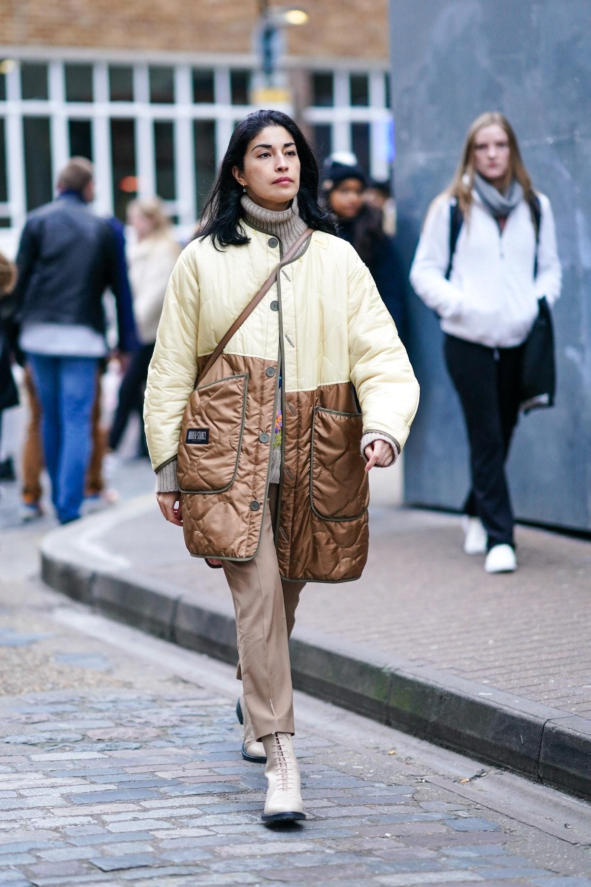 caroline issa wears marfa stance jacket