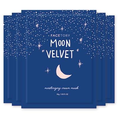 FaceTory Moon Velvet Moisturizing Cream With Jojoba Oil Sheet Mask  (Pack of 5)
