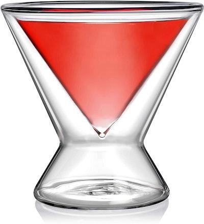 Dragon Glassware Double Walled Martini Glasses, 7 oz. (Set Of Six)