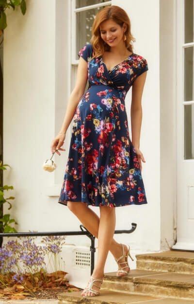 Alessandra Dress In Midnight Garden