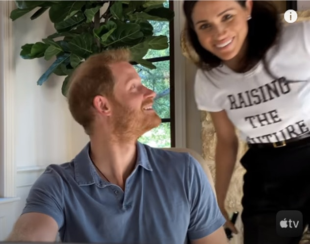 Meghan made an appearance in her husband's documentary.