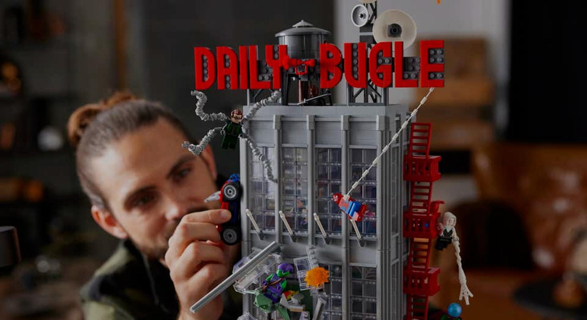 daily bugle lego spider-man