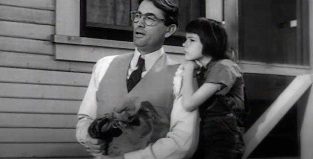 Gregory Peck stars in the Academy Award winning film, 'To Kill A Mockingbird.'