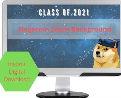 rusticcelebration Dogecoin Zoom Background