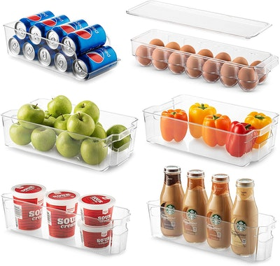 Seseno Refrigerator Organizer Bins (Set Of 6)