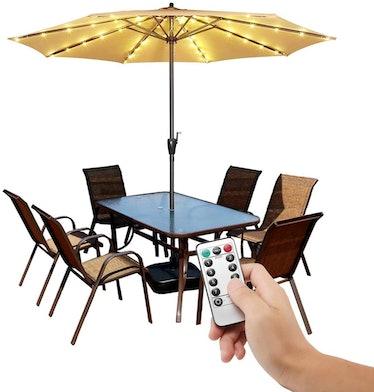 POOCCI Patio Umbrella Lights