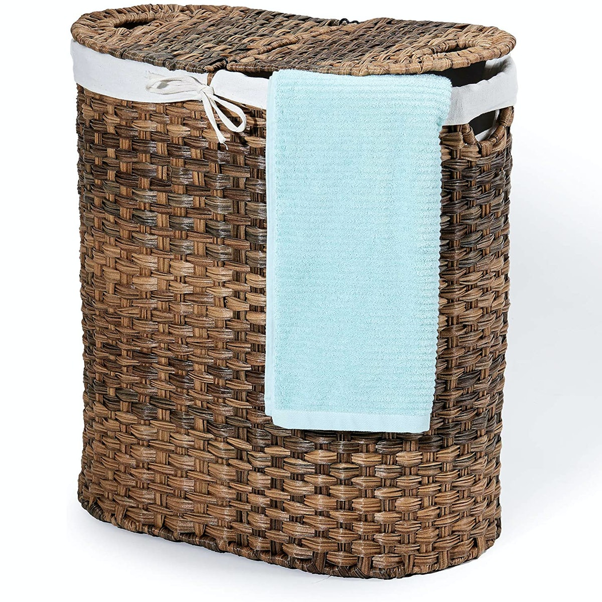 Seville Classics Hand-Woven Oval Laundry Sorter