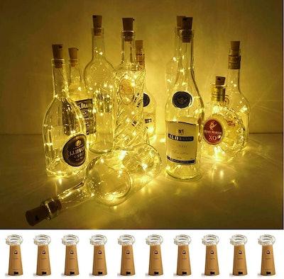 LoveNite Wine Bottle Lights with Cork (10-Pack)