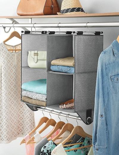 Whitmor 4 Section Fabric Closet Organizer