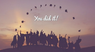 'You did it!' Background