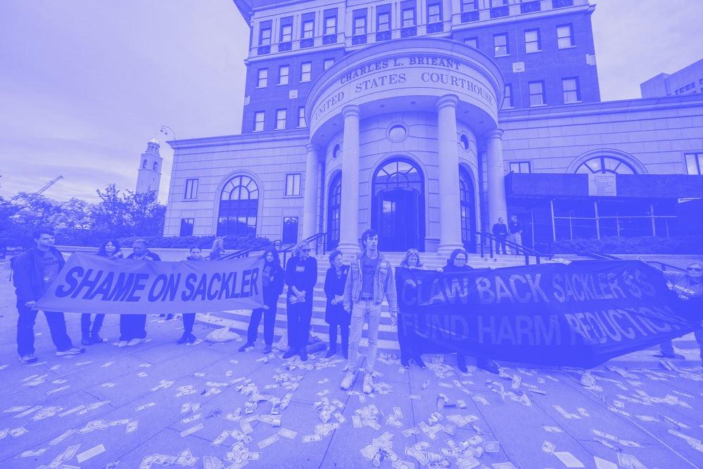 Protesters against Purdue Pharma in 2010.