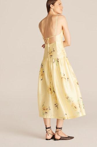 Positano Rose Open Back Dress