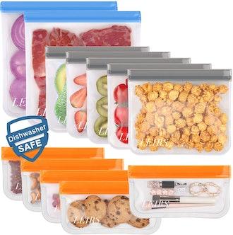 Leirs Dishwasher Safe Reusable Storage Bags (12 Pack)