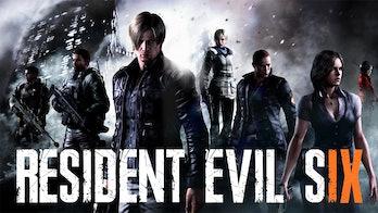 resident evil six re9 logo mock up