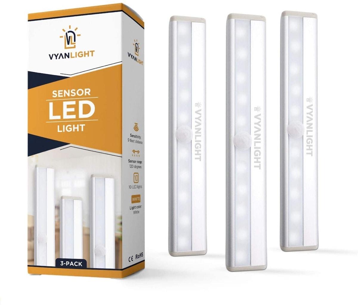 VYANLIGHT LED Closet Lights (3-Pack)