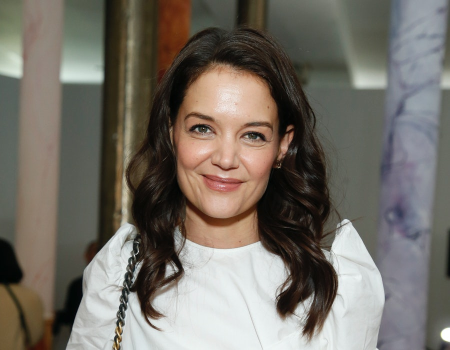 NEW YORK, NEW YORK - FEBRUARY 08: Katie Holmes attends the Ulla Johnson fashion show during February 2020 - New York Fashion Week: The Shows on February 08, 2020 in New York City.