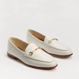 Loraine Bit Loafer in White Leather