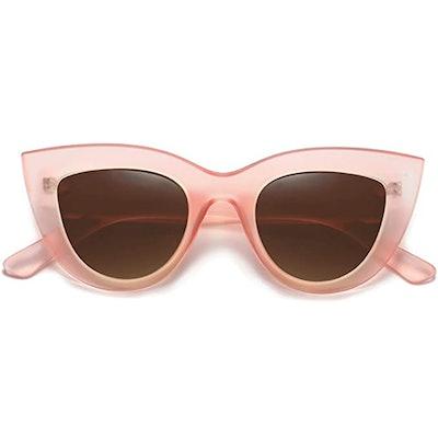 SOJOS Vintage Cat Eye Sunglasses