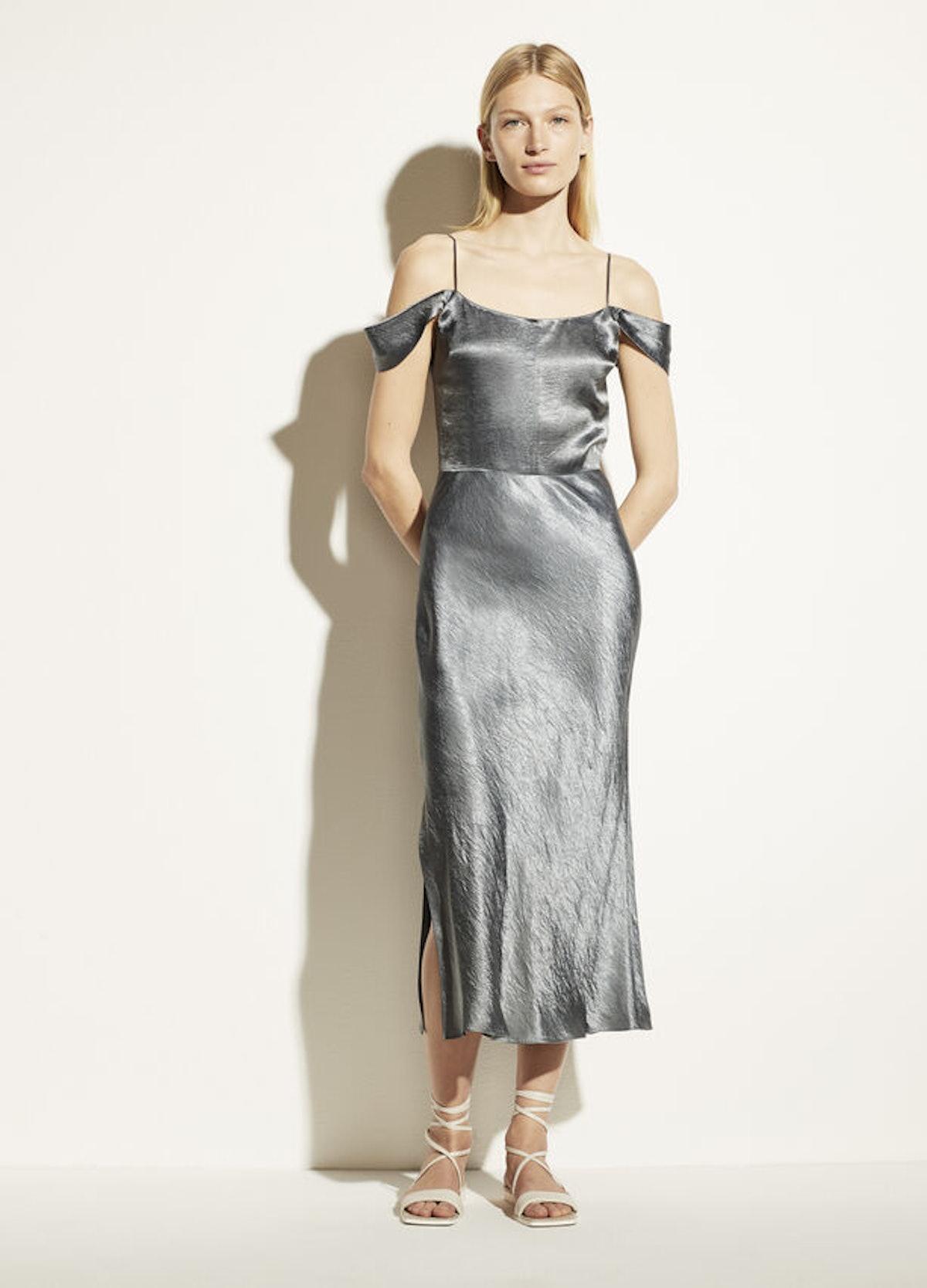 Shoulder Strap Slip Dress