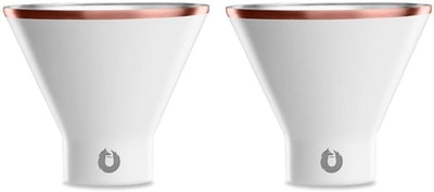 SNOWFOX Insulated Stainless Steel Martini Glasses, 8 oz. (Set Of Two)