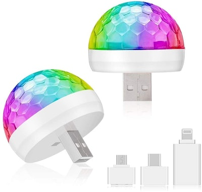 MIMIVIVA USB Mini Disco Lights (2-Pack)