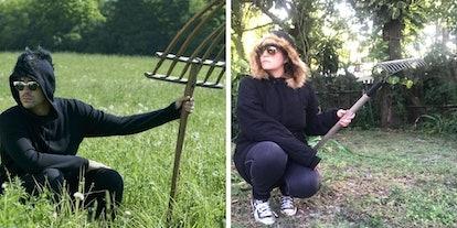 I tried dressing like David Rose from 'Schitt's Creek' in a field