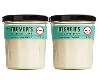 Mrs. Meyer's Clean Day Scented Soy Aromatherapy Candle, Basil (2-Pack)