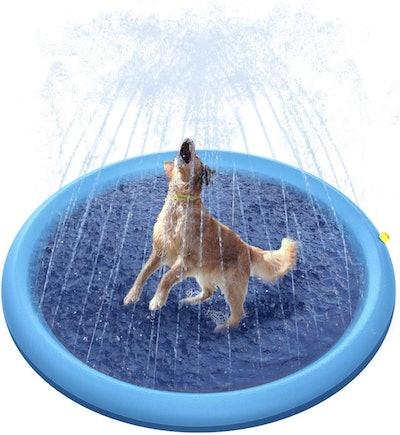 Peteast Splash Sprinkler Pad