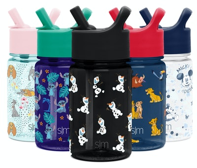Disney Character Kids Tritan Bottles with Straw Lid