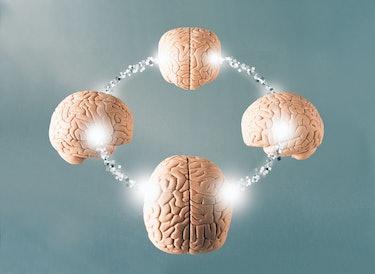 Brains linked together via mind reading