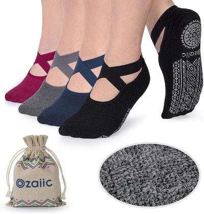 Ozaiic Non Slip Socks (4-Pack)