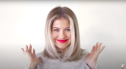 YouTuber Milabu styled half of her hair using the Dyson Airwrap Styler and the other half using a dupe, the Revlon One Step Volumizer.