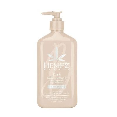 Hempz Smoothing Herbal Body Moisturizer, Koa & Sweet Almond (17 oz)