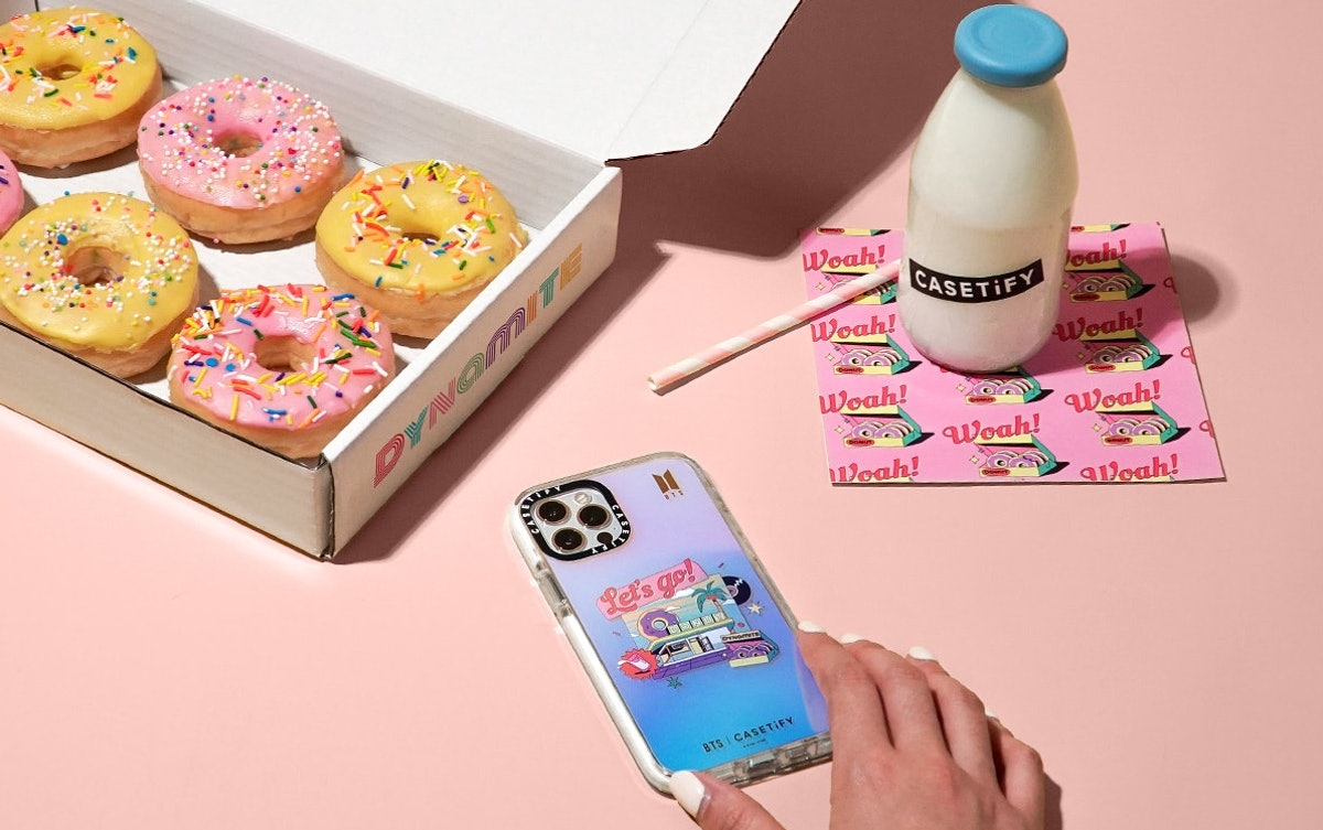"""The newest BTS x Casetify collection features """"Dynamite""""-inspired phone accessories."""
