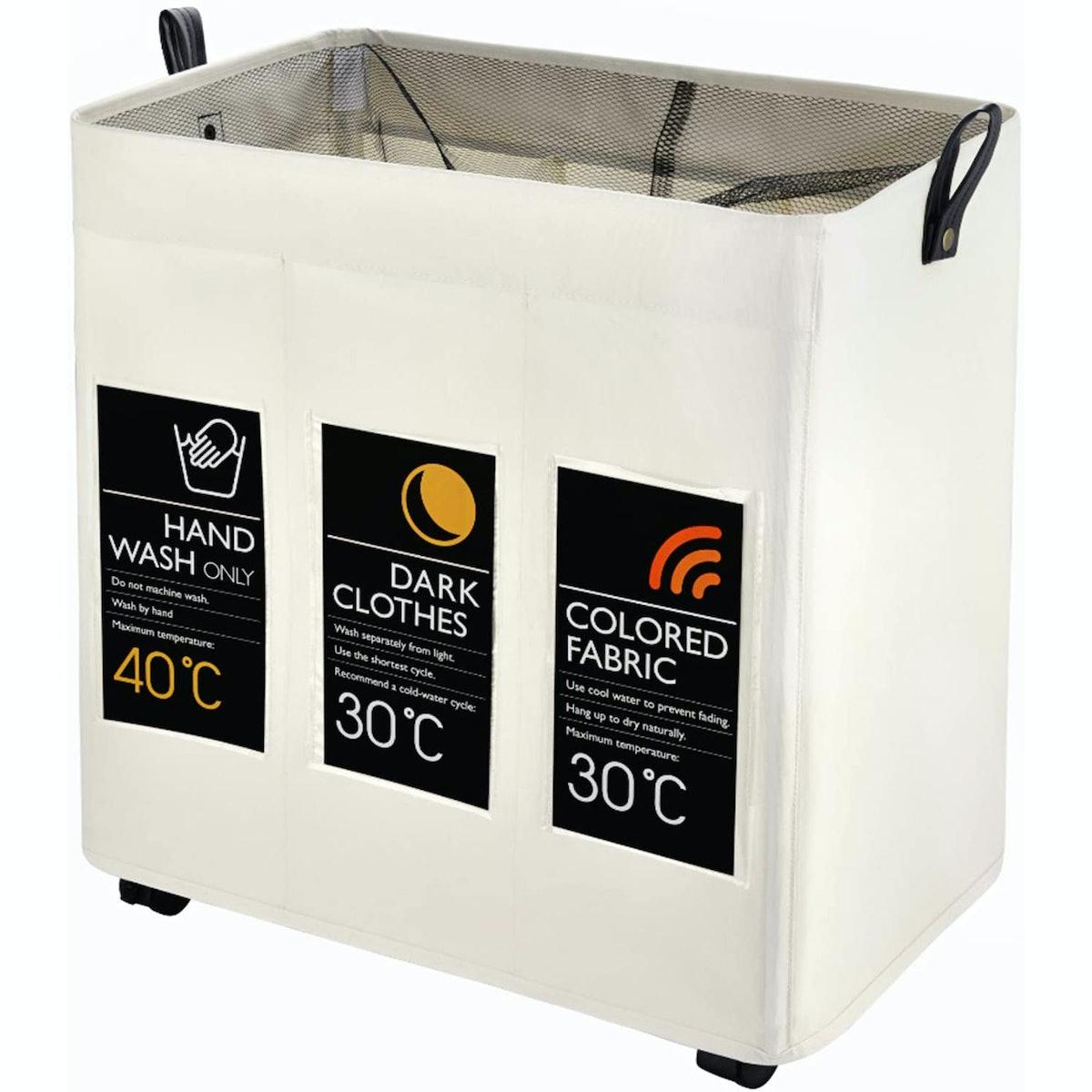 Caroeas 3-Bag Laundry Sorter