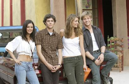Rachel Bilson, Adam Brody, Mischa Barton, Benjamin McKenzie in 'The OC'