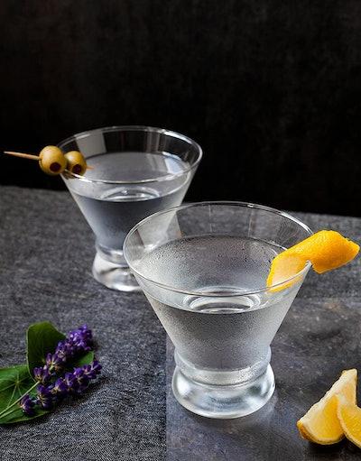 JoyJolt Stemless Martini Glasses, 8 oz. (Set Of 4)