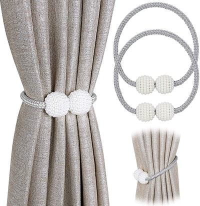 Pinowu Magnetic Curtain Tiebacks (2-Pack)