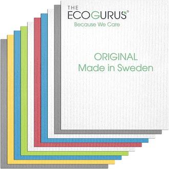 The EcoGurus Swedish Dishcloths (10 Pack)