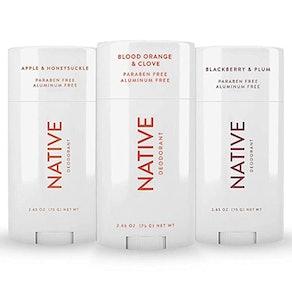 Native Natural Aluminum and Paraben Free Deodorant (3-Pack)