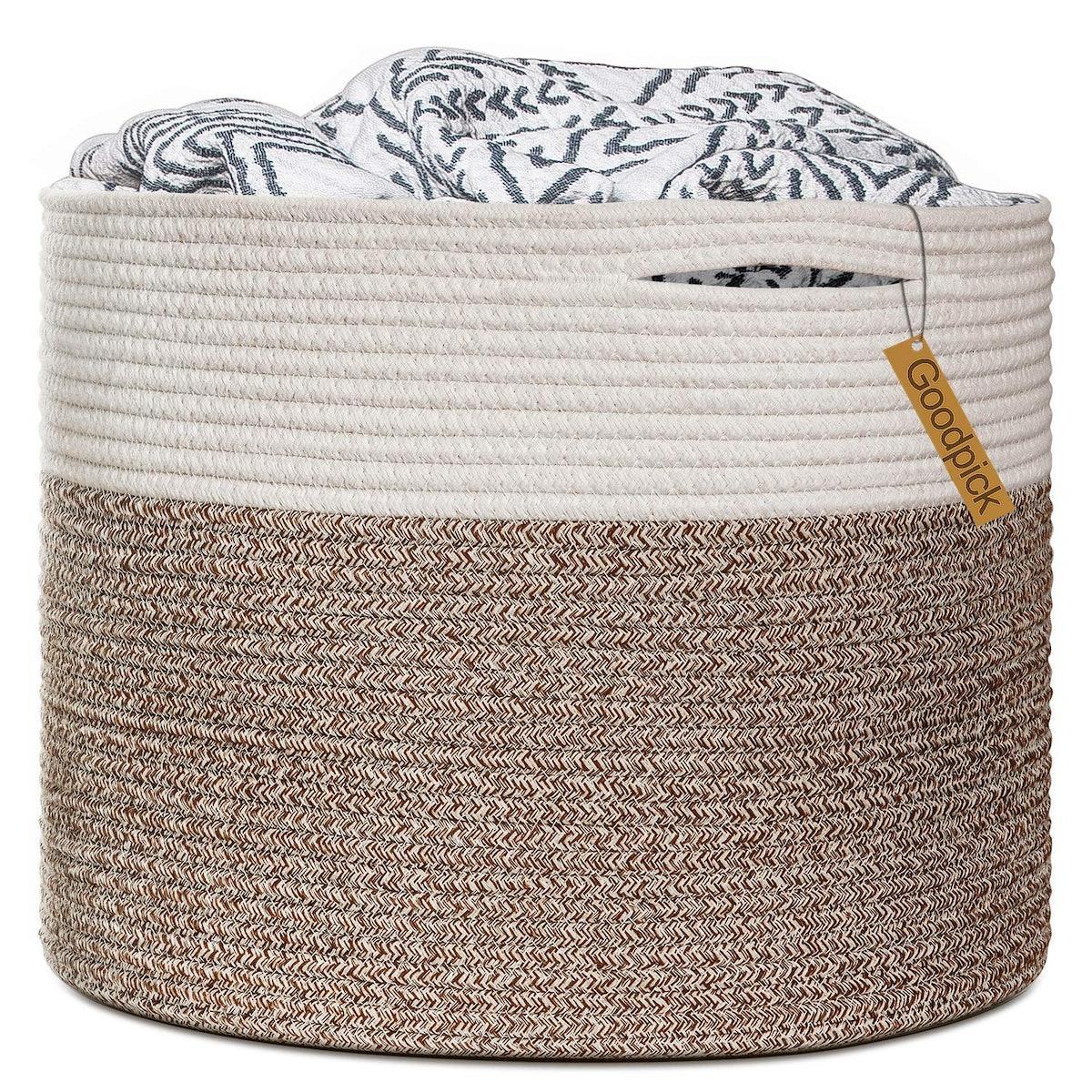Goodpick Cotton Rope Laundry Basket