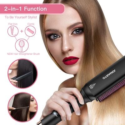 JOMARTO Ceramic Hair Straightener Brush