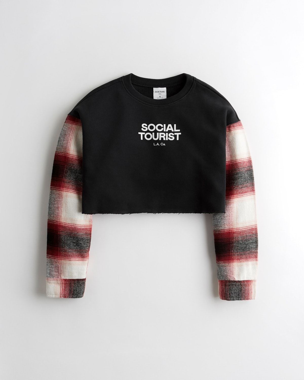 A product image of one of the cozy items available in the pre-launch limited edition collection of Charli and Dixie D'Amelio's new clothing brand Social Tourist.